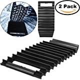 2 Pack, Non-slip Emergency Tire Traction Mat Practical Traction Mat Durable Tire Grip, Suitable for Unstucking Car From Snow, Ice and Mud, Black