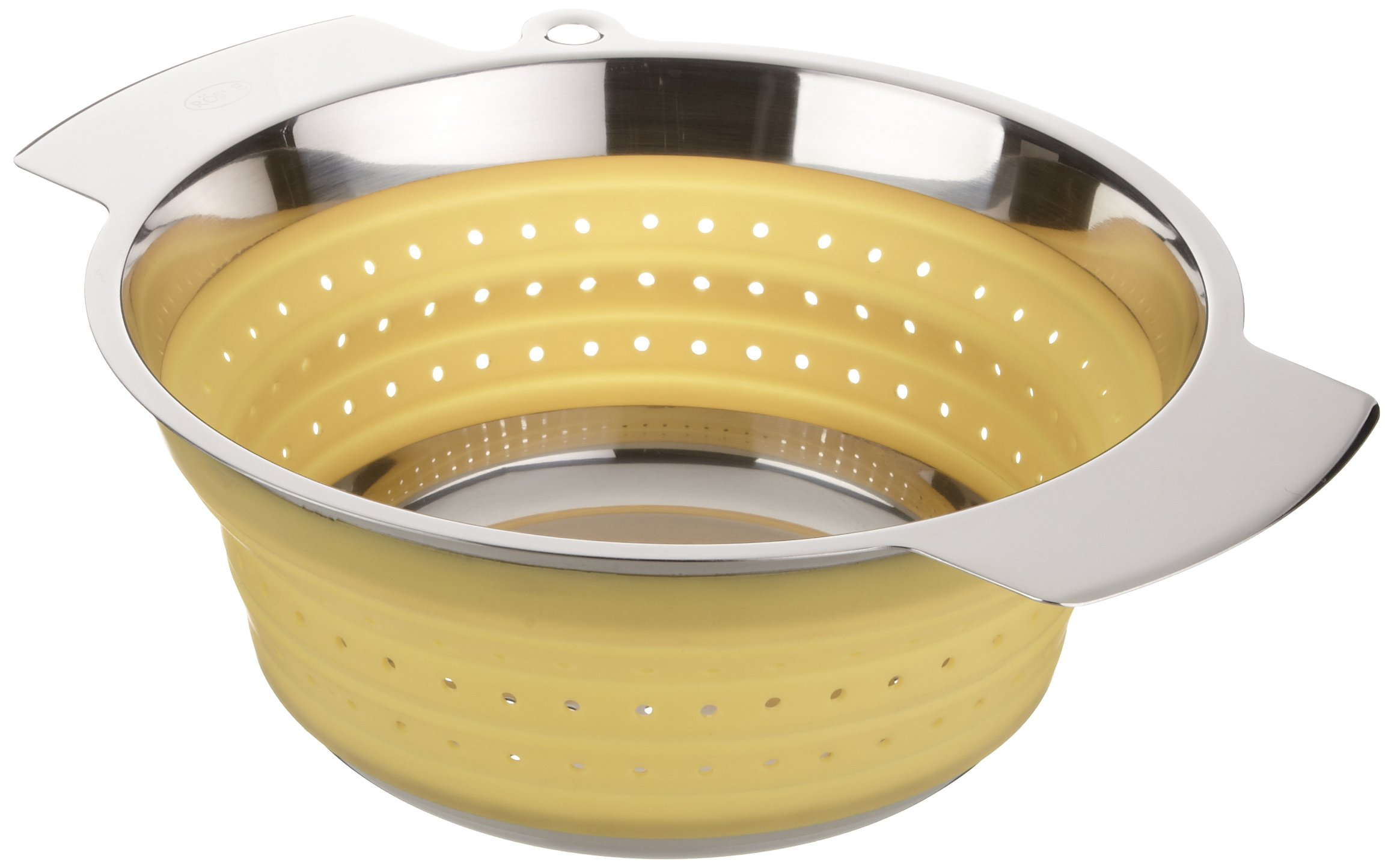 Rösle Stainless Steel 10-inch Collapsible Colander, Yellow by Rosle