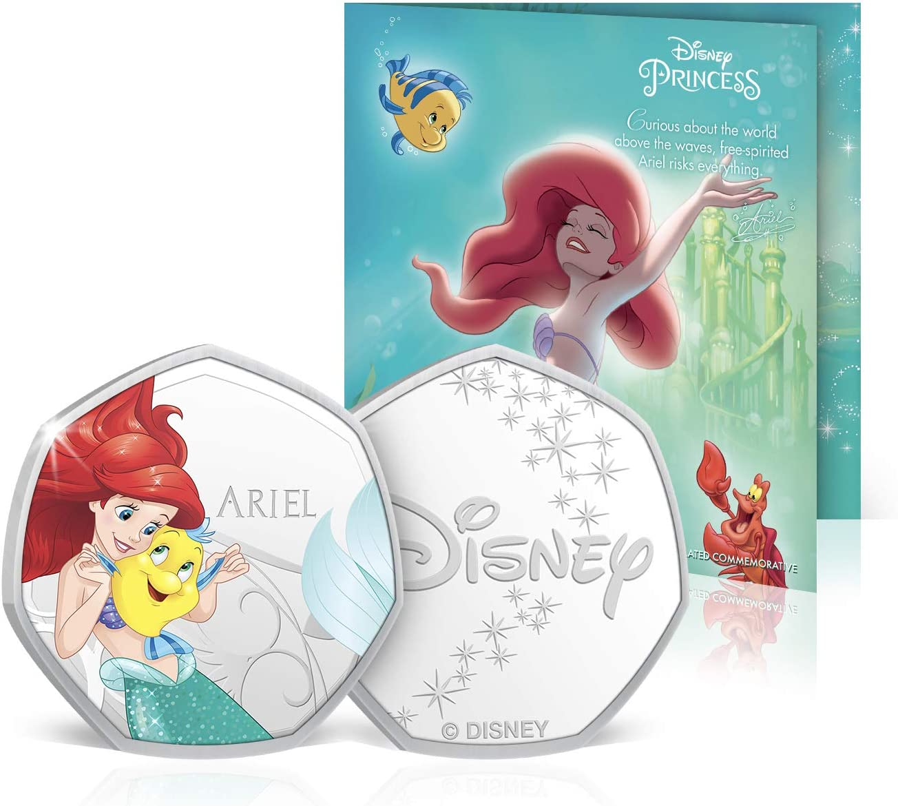 Disney Princess Birthday Card Gifts Present Blank Card with 50p Shaped Keepsake Coin Included Aurora