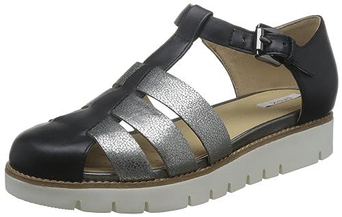 Geox Damen D Darline D Geschlossene Sandalen mit Keilabsatz