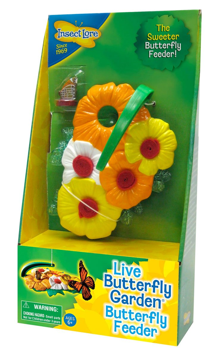 Insect Lore Butterfly Feeder Kit – Garden Toy Includes Nectar Reservoirs, Butterfly Landing Pads, and Red Nectar Wicks by Insect Lore