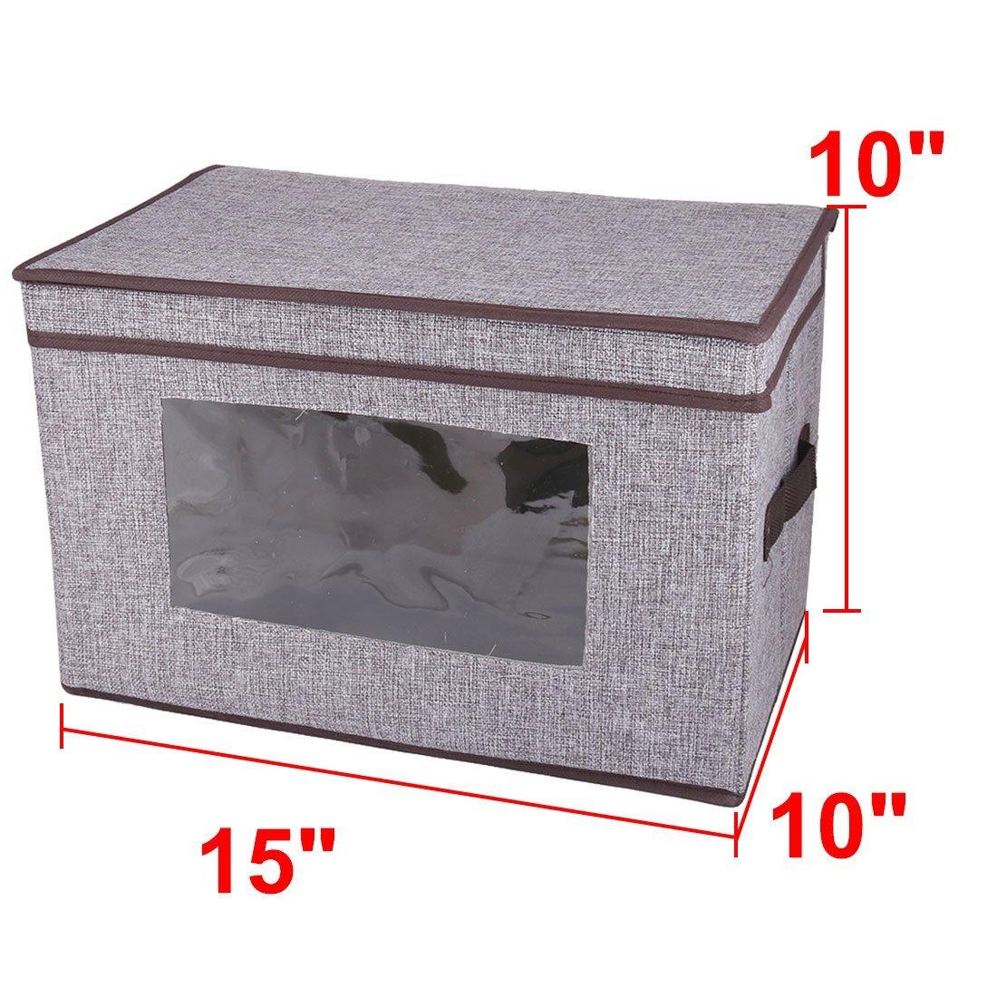 Amazon.com : eDealMax ropa Para el hogar Ropa plegable del edredón caso Titular caja de almacenamiento DE 38 x 25 x 25 cm Gris : Office Products