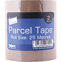 Just Stationery 25m Parcel Tape (Roll of 2)
