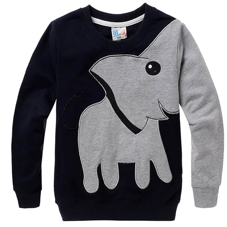 Amazon DD CM Little Boys Elephant Print Sport Long Sleeve