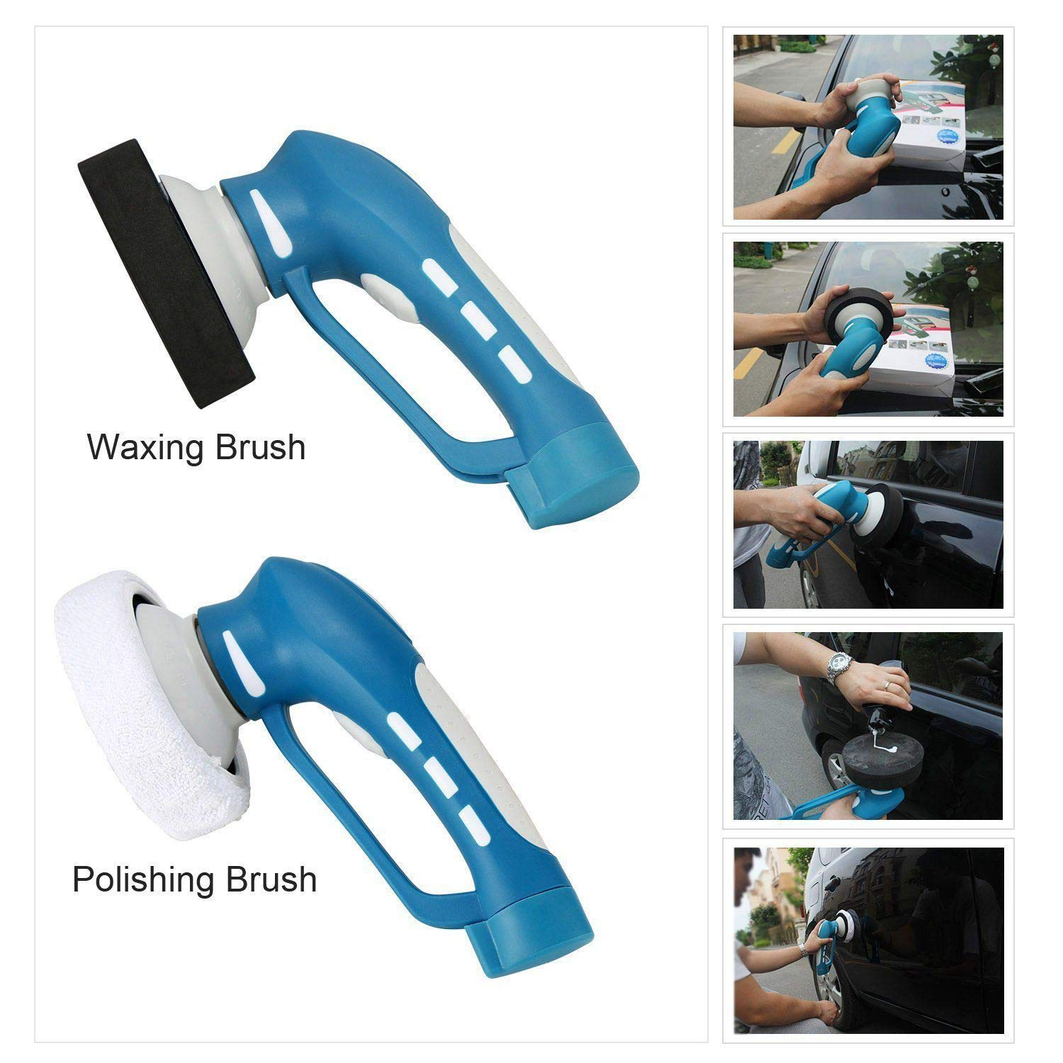 DSstyles Vehicle Car Polishing Mini Wireless Electric Vehicle Car Polisher Machine Clean Waterproof Tool by DSstyles (Image #1)
