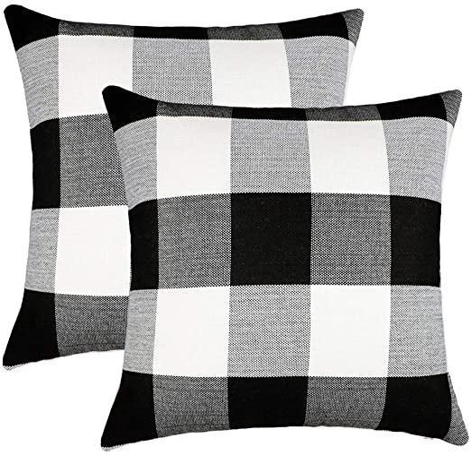Plaid Throw Pillows