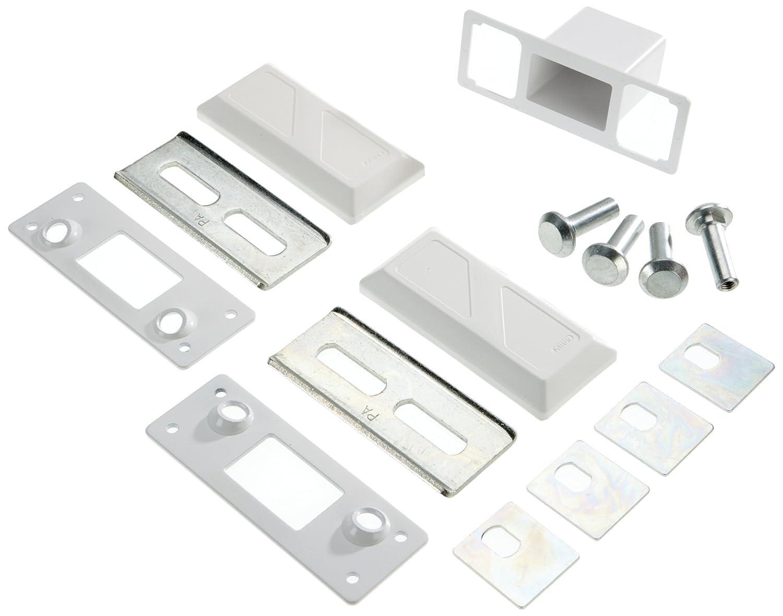 ABUS 10660 Kit de fixation pour barre de sécurité pour porte PA1018 Blanc 106606