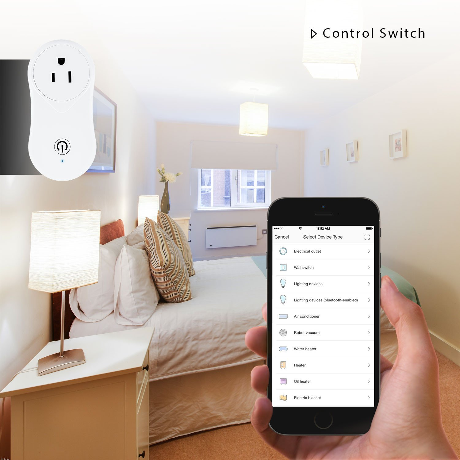 Cevitor Smart Home WiFi Power Socket Plug Outlet, Alexa and Smart Phone Wireless Controls, Not Hub Required (Fashion 2-Pack) by Cevitor (Image #4)