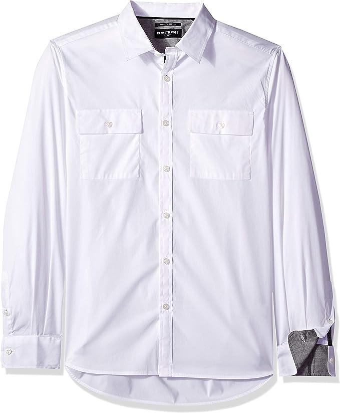 Kenneth Cole New York - Camisa de manga larga con botones para hombre