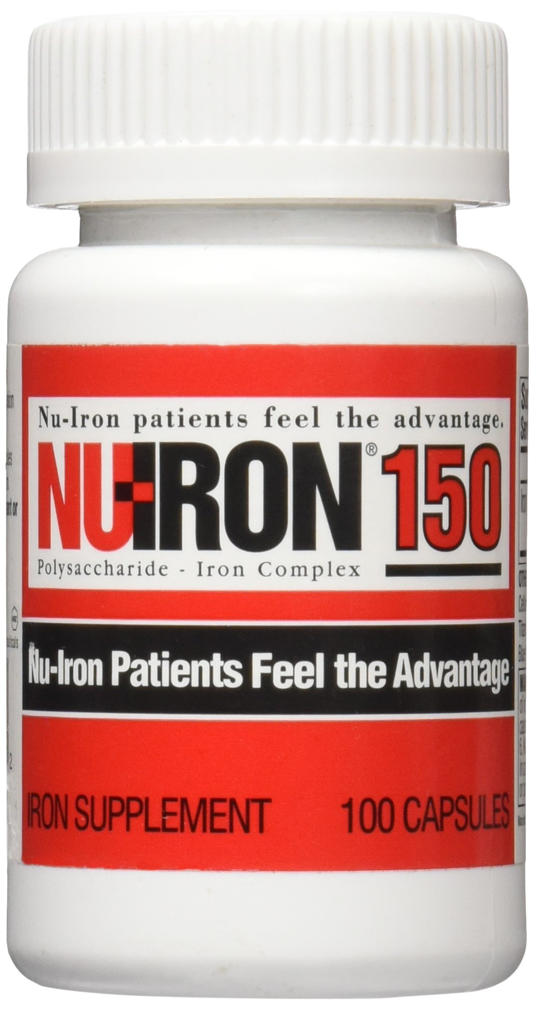 Nu-Iron 150 Capsule Supplements, 100 Count