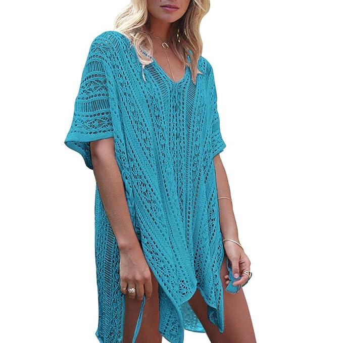 Vertuschen Kleid Spitze Häkeln Bikini Strand Strandkleid Sommer Kaftan Kimono