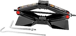 "Performance Tool W1600 1-1/2 Ton (3,000lb) Capacity Scissor Jack, 4"" - 15"" Lift Range"