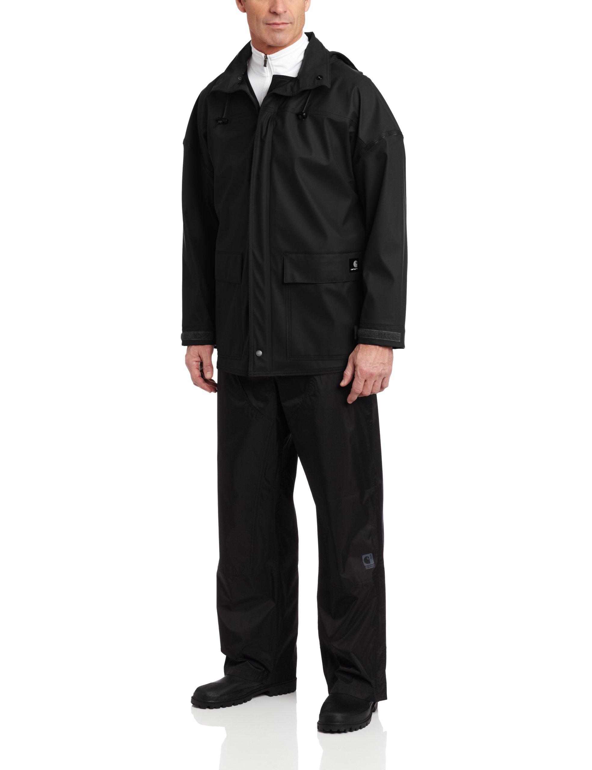 Carhartt Men's Medford Rain Defender Coat,Black,Large
