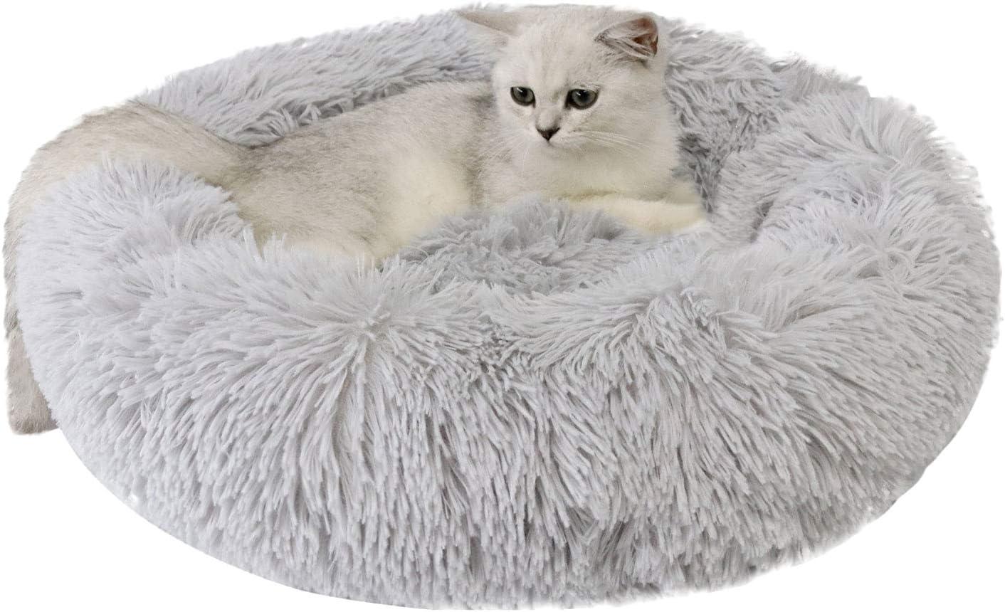 Legendog Cama para Mascotas Creativo Redondo Cálido Suave y Mullido Felpa Cama para Dormir Cama para Gatos