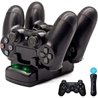 PS4/PS3 Controller Charger, BRHE Playstation 4/PS4 Pro/PS4 Slim/PS3/PS3 Move Controller Charger Charging Docking Station…