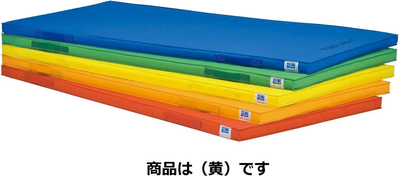 TOEI LIGHT(トーエイライト) 軽量エコカラーマット 黄 幅90×長さ180×厚さ5cm 安全に配慮した側面ベルト式 驚くほど軽量マット5.3 T1938Y T1938Y
