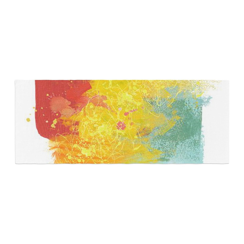 Kess InHouse Oriana Cordero Medley Colorful Paint Bed Runner