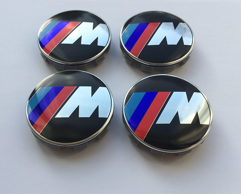 B M W Set von 4 m POWER, M Sport Legierung Felgendeckel 10 Pin Clips 68 mm passend fü r Serie 1 2 3 5 6 7 8 Z3 Z4 M3 M5 M6 X1 X3 X5 X6 E3
