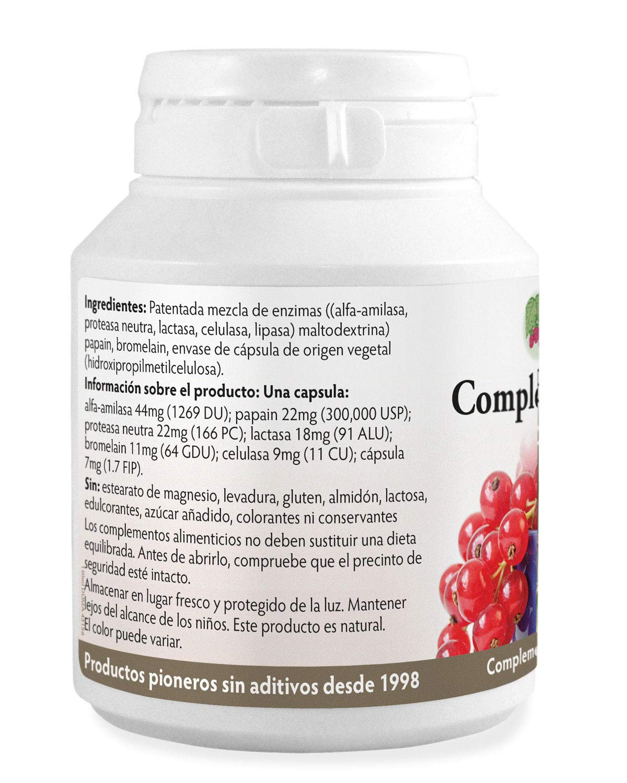 Complejo Multi-Enzima digestiva x 90 cápsulas Sin estearato de ...
