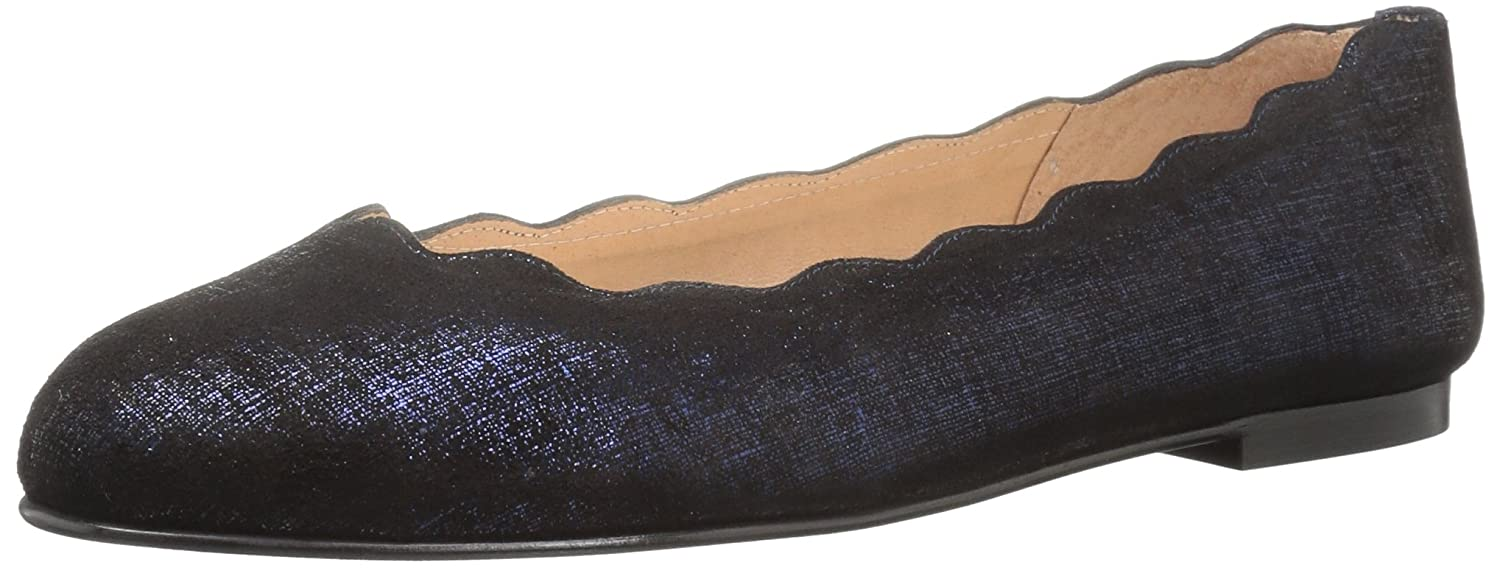 French Sole FS/NY Women's Jigsaw Ballet Flat B0725KBSFG 5 B(M) US|Navy