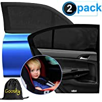 """Goosky Car Window Sun Shades for Baby Kids, UV Sun Protection for Baby Adults Pets, 40""""x20"""" Fits Most Vehicles"""