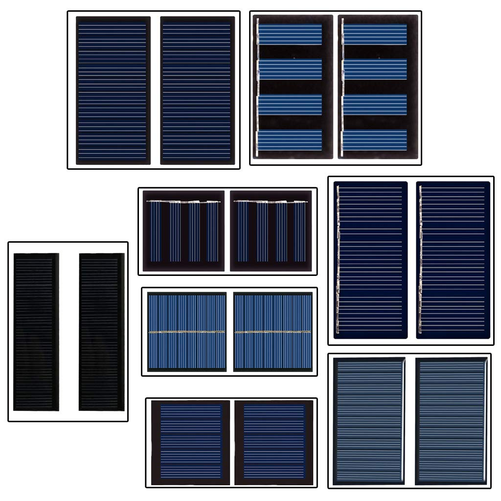 Battery Charging Kit DIY Projects 40mA 5V Toys Set of 2 Small Solar Panel Polysilicon Solar Cell Eletric Charger Solar Toy Powered