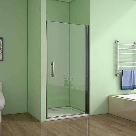 Mampara de ducha con pivote Perfect 760 mm a 1000 mm., 800 mm: Amazon.es: Hogar