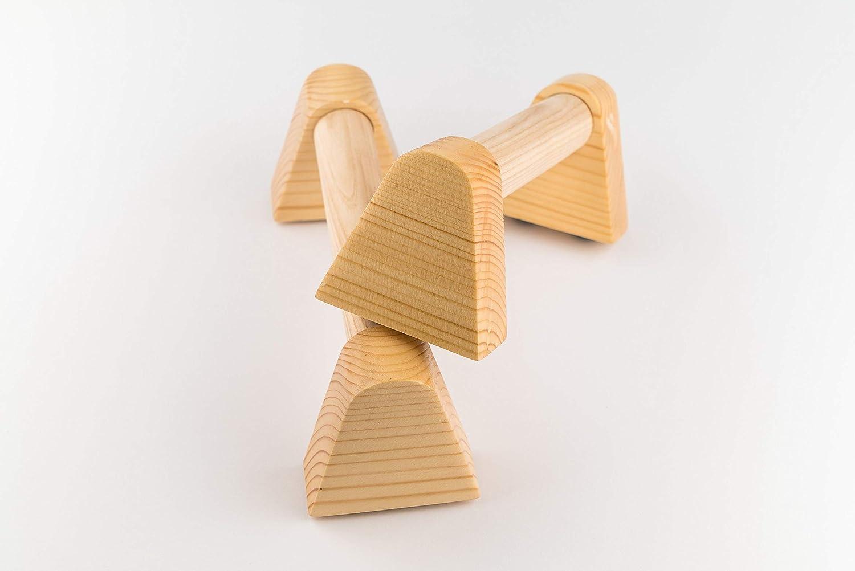 mini wooden Parallettes for yoga gymnastics calisthenics /& fitness