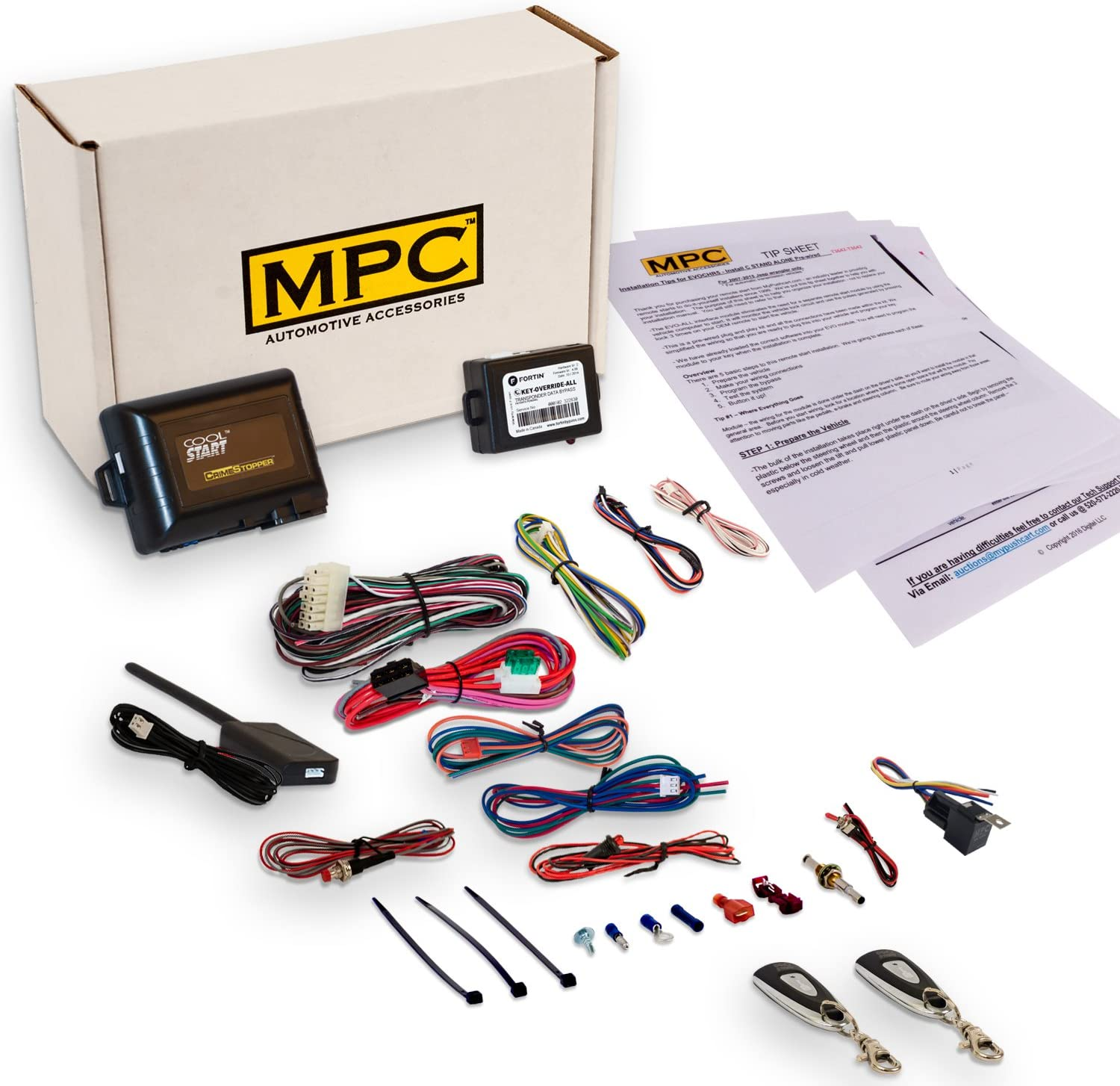 2 MPC Complete 1-Button Remote Start Kit for 2005-2010 Toyota Camry Extended Range Remotes