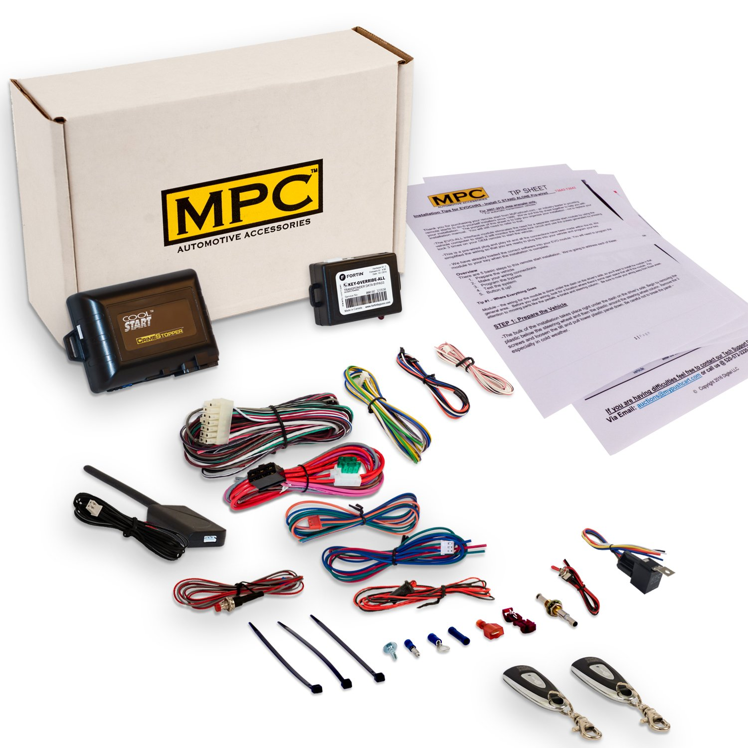 MPC Complete 1-Button Remote Start Kit for 2005-2010 Toyota Camry - Includes Bypass and (2) Extended Range Remotes
