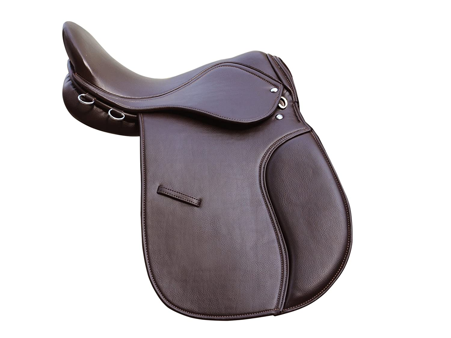 Synthetic General Purpose Halflinger Saddle Wide fit Brown 18 inch Pets2Care