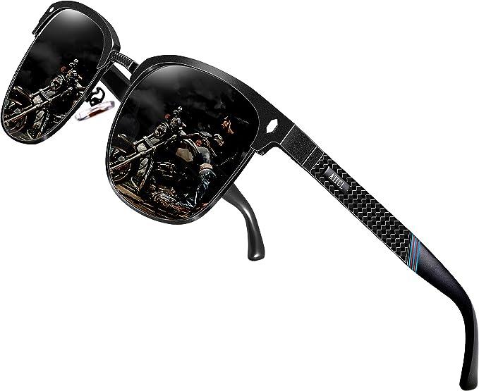 b27028a5a3 ATTCL Men s Driving Polarized Sunglasses Al-Mg Metal Frame Ultra Light  8-188 Black