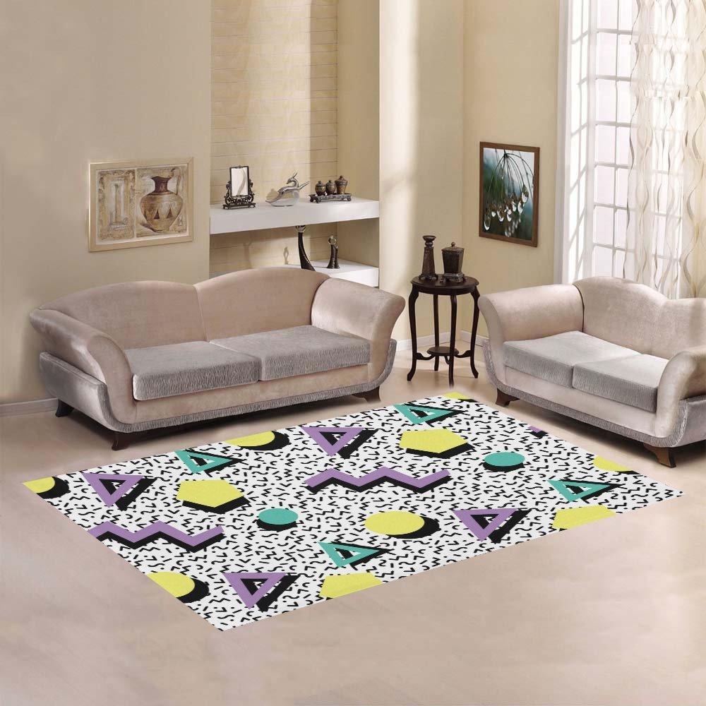 Amazon com your fantasia seamless geometric pattern in retro 80s style area rug modern carpet home decor kitchen dining