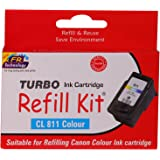 Turbo Ink Cartridge Refill Kit for Canon cl 811 Color Ink Cartridge