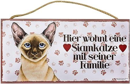Cartel de madera animales Cartel Gato Decoración gato siamés ...
