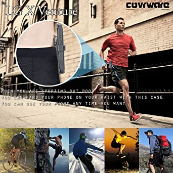Amazon.com: LG X Venture Case, LG X Calibur Case, COVRWARE [Iron Tank] Built-in [Screen Protector] Heavy Duty Full-Body Holster Armor [Brushed Metal ...