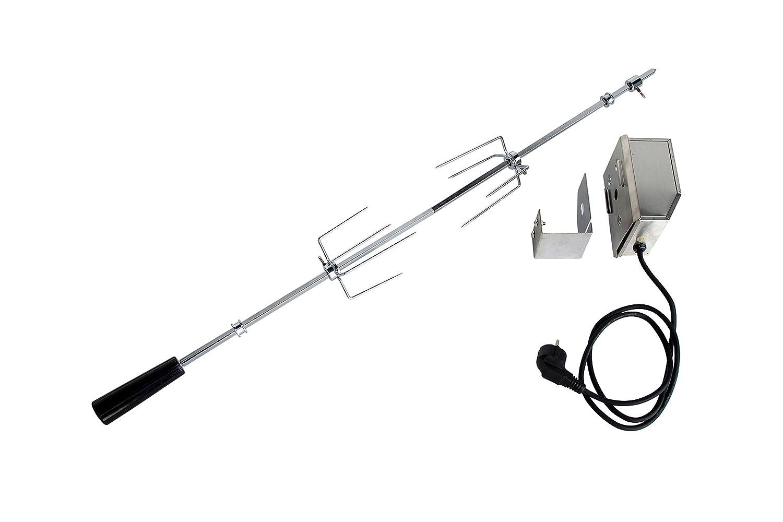 Universal Grillspieß mit Motor 220V -EDELSTAHL- für Allgrillmodell KOMPAKT, 63 cm lang