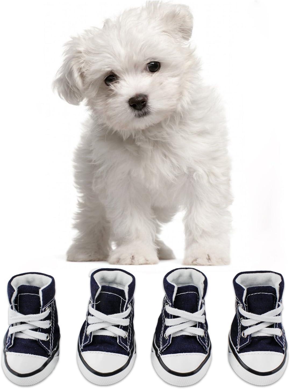 KEESIN Zapatos de Lona Antideslizantes para Perros Cachorros, Protectores de Piernas para Perros, Zapatos Casuales al Aire Libre para Perros #3