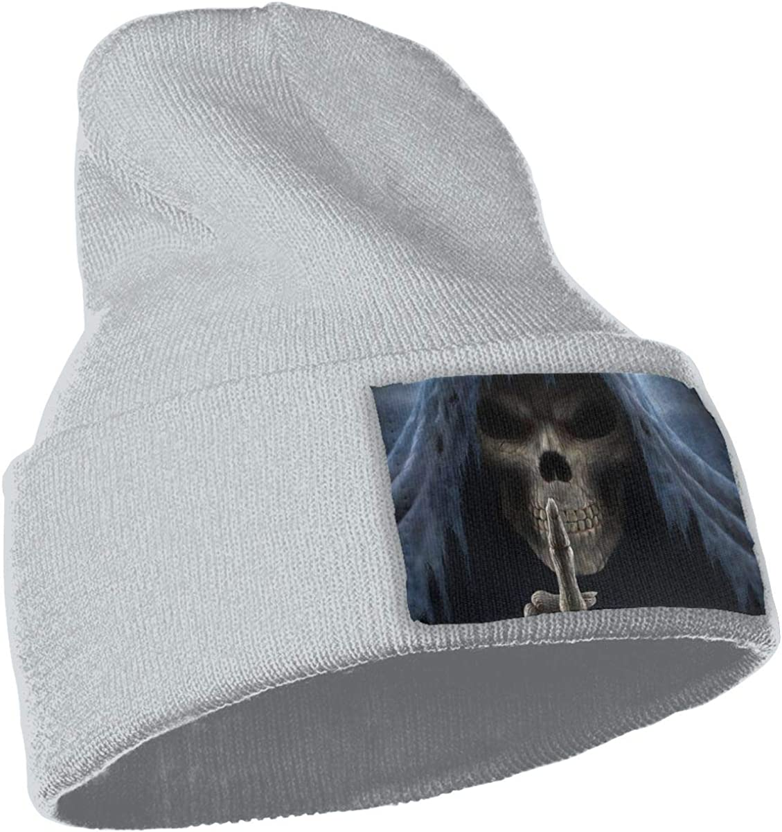 Unisex Beanie Cap Skull Middle Finger Fall Winter Cuffed Knit Hat Warm Baggy Slouchy Chunky Skully Hats