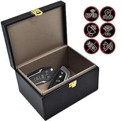Faraday Key Fob Protector Box, RFID Signal Blocking Box, Faraday Bag Signal Blocking Bag Shielding Pouch Wallet Case for Car Key: Automotive