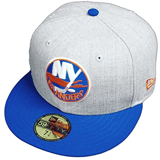 3649acbbd36 Amazon.com  New Era New York Islanders Heather Cap 59fifty 5950 Fitted  Special Limited Edition NHL  Clothing