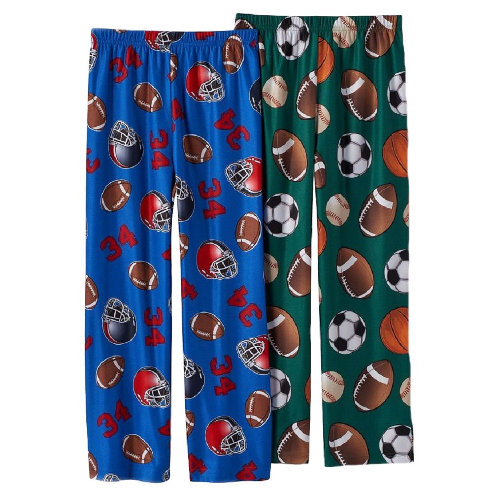 Up-Late Little Boys All-Sport//Football Lounge Pants 2 Pair