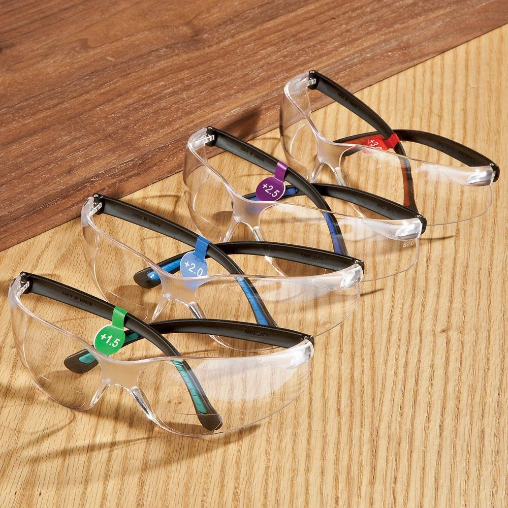 +2.0 SG-AF-MAG3.0 FastCap Bifocal Safety Glasses