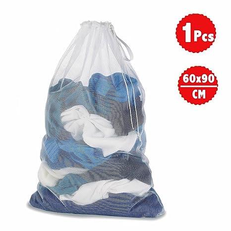 DoGeek Bolsas de Malla de Lavandería Bolsas de Lavado para Ropa Interior, Calcetines,Sujetadores, Camiseta,Ropa de Bebé (Blanco, 1 pc)
