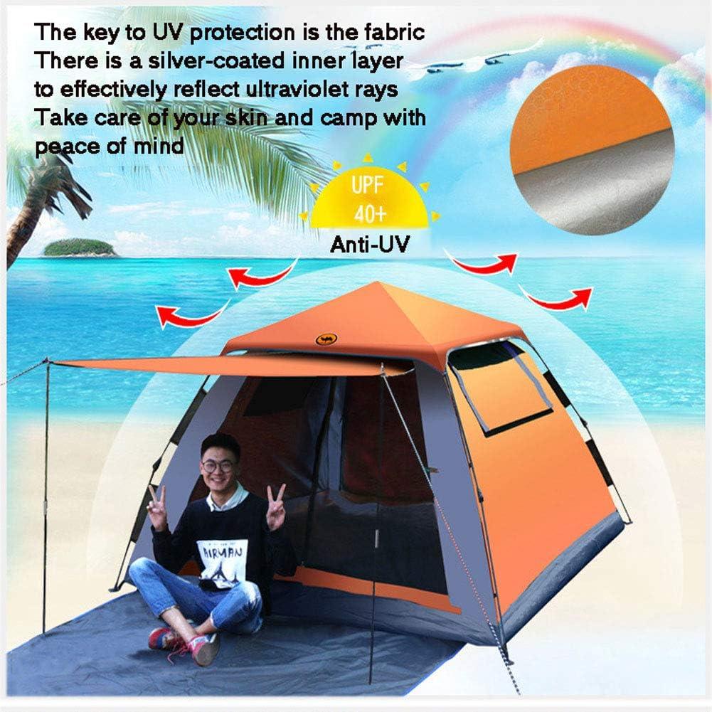 GUOYULIN Tienda De Campaña Exterior para 3 A 4 Personas Anti-UV Protección Solar Pop Up Tienda Refugio De Sol Al Aire Libre para Senderismo, Viajes, Pesca Green