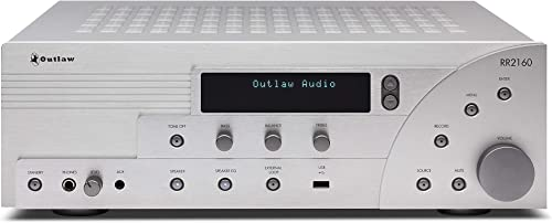 RR 2160 Retro Stereo Receiver Class AB Amp Section Internet Radio AM FM Tuner Coax, Optical, RCA Inputs Selectable Bass Management Speaker Selector Switch Remote Control Tone Controls