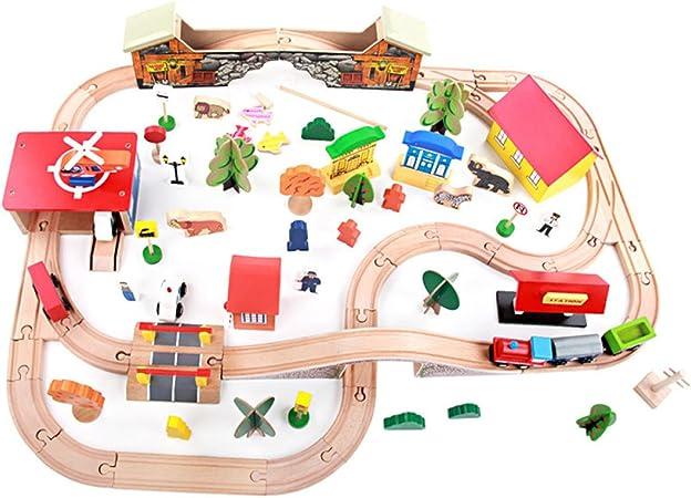 ZHNA Juguetes for niños Juguetes de Playa 89 Piezas Deluxe Track Train Sets Juegos de Mesa Juguetes for niños 3-6 años Regalo de cumpleaños for niños: Amazon.es: Hogar