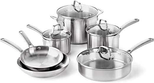 Calphalon Classic Pots And Pans Set, 10-Piece Cookware Set