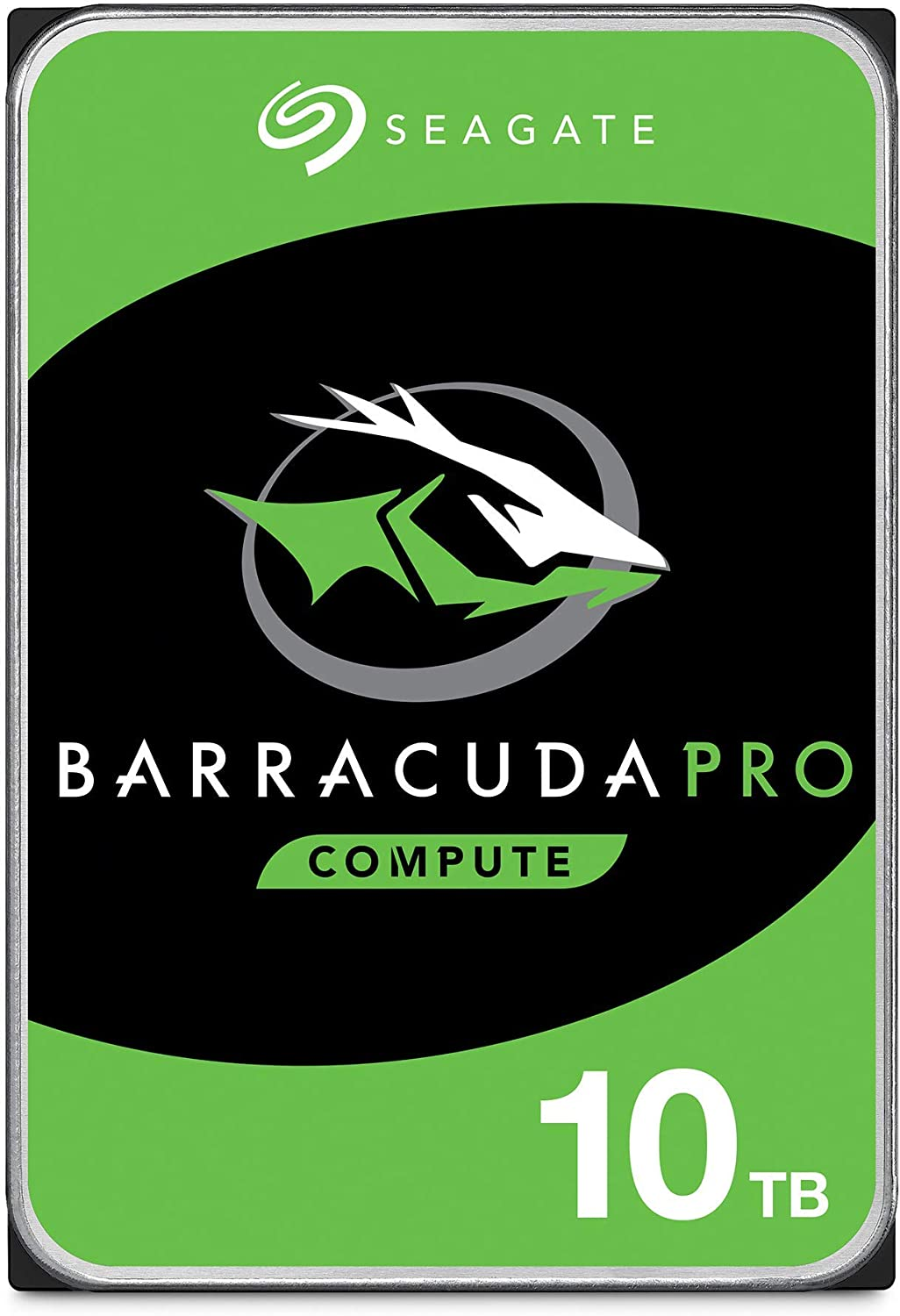 Seagate BarraCuda Pro SATA HDD 10TB 7200RPM 6Gb/s 256MB Cache 3.5-Inch Internal Hard Drive for PC Desktop Computers System All in One Home Servers DAS (ST10000DM0004) (Renewed)