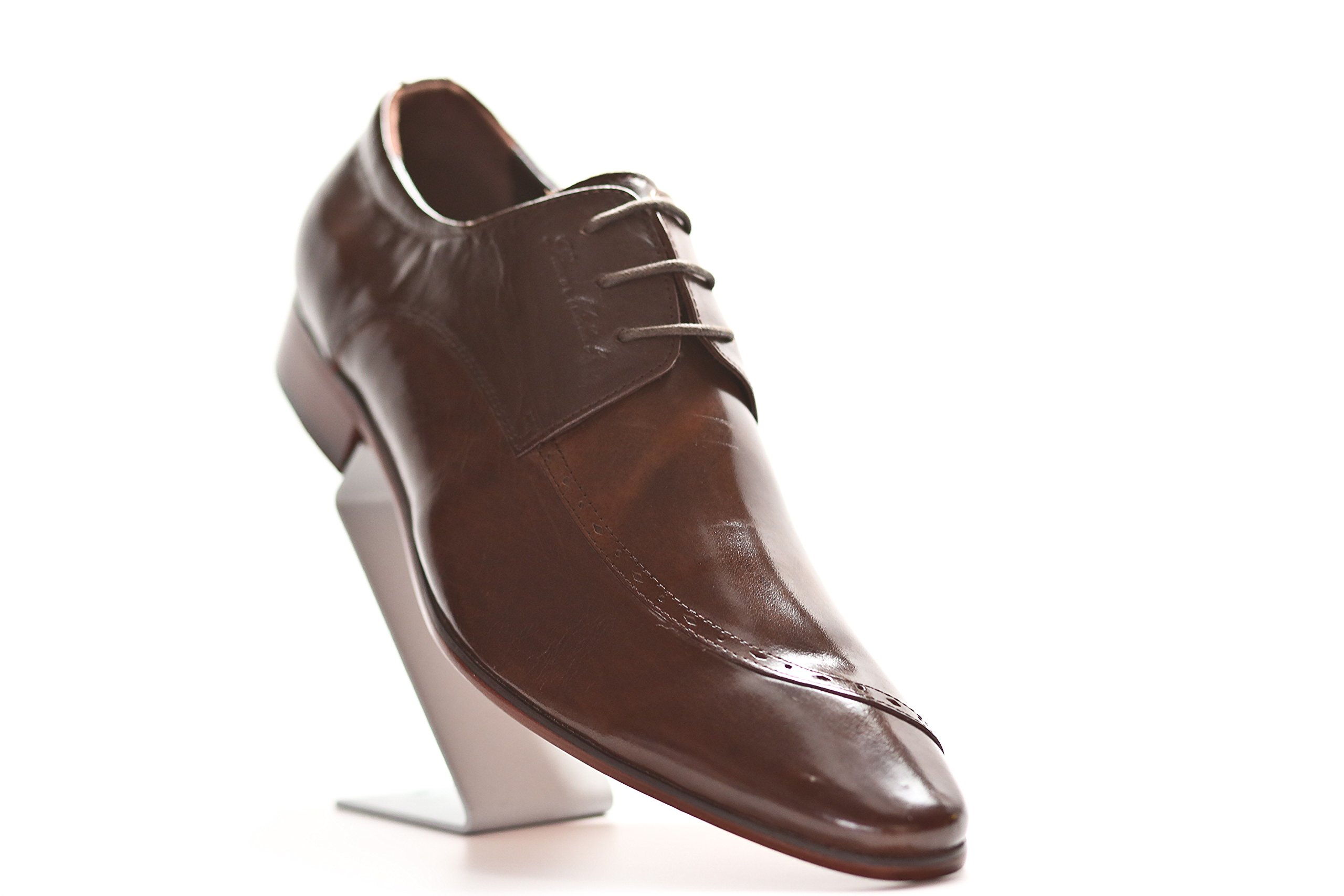 Liam Michael Men's Leather Jupiter Shoe (12, Coffee) by Liam Michael Shoes